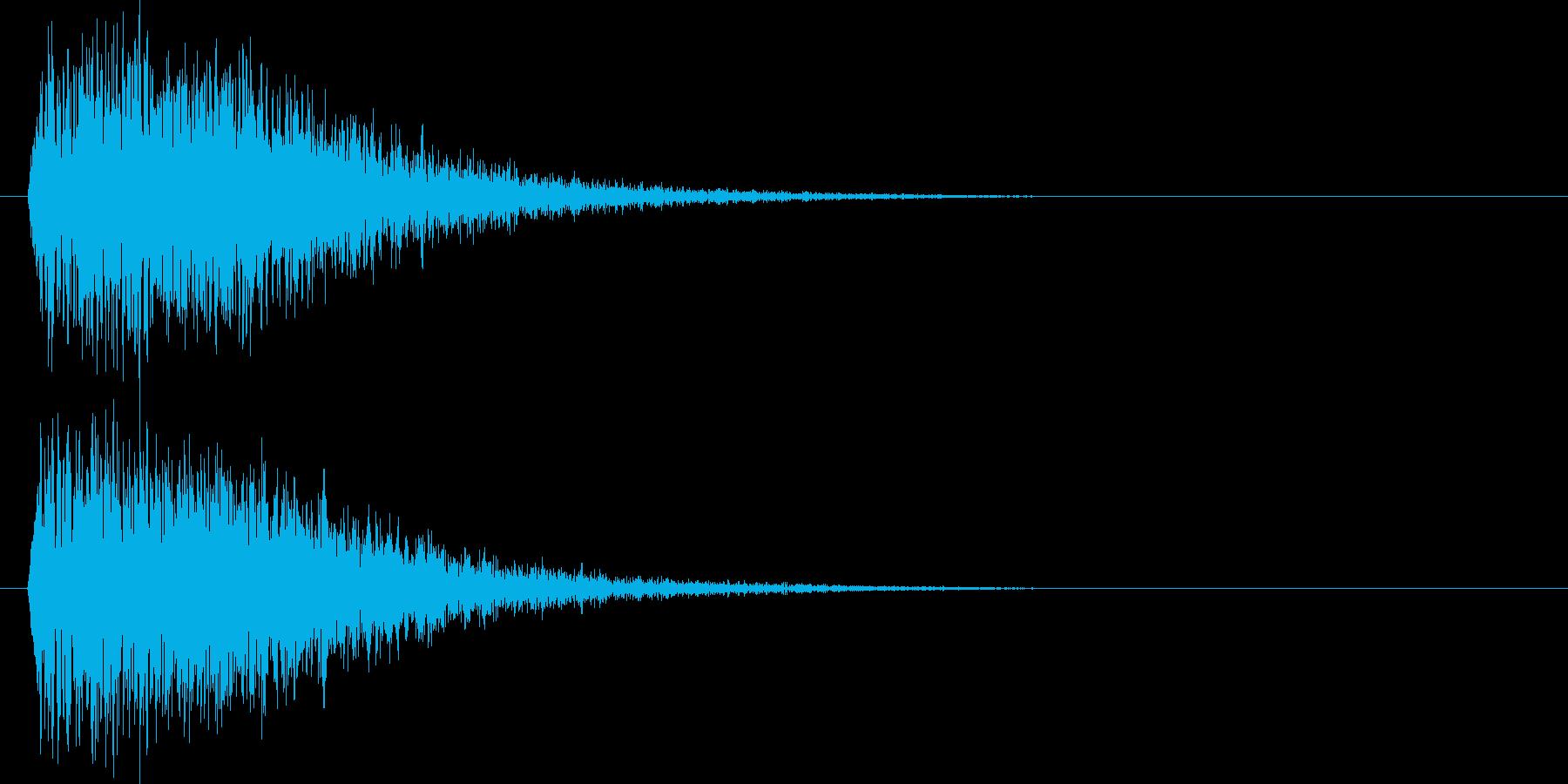 ドカーン(破壊音)の再生済みの波形