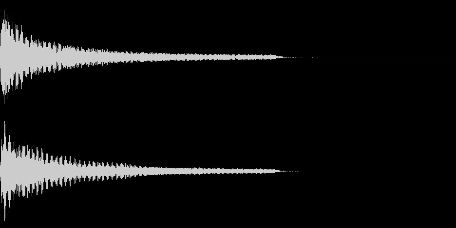 ピアノ一音極端に低い音(鍵盤の最低音)の未再生の波形