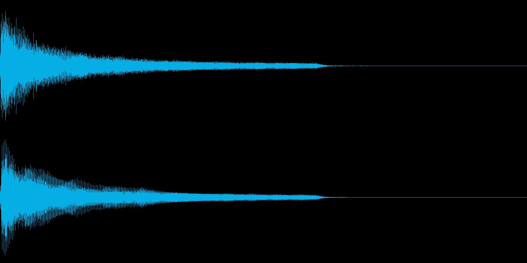 ピアノ一音極端に低い音(鍵盤の最低音)の再生済みの波形