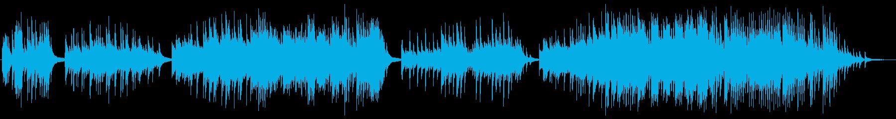 幻想的でメロディアスなピアノソロの再生済みの波形