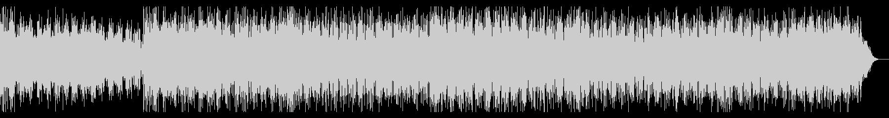 宇宙的・電脳的なバトルイメージのBGMの未再生の波形