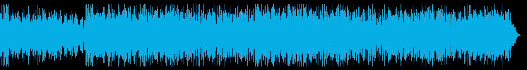 宇宙的・電脳的なバトルイメージのBGMの再生済みの波形
