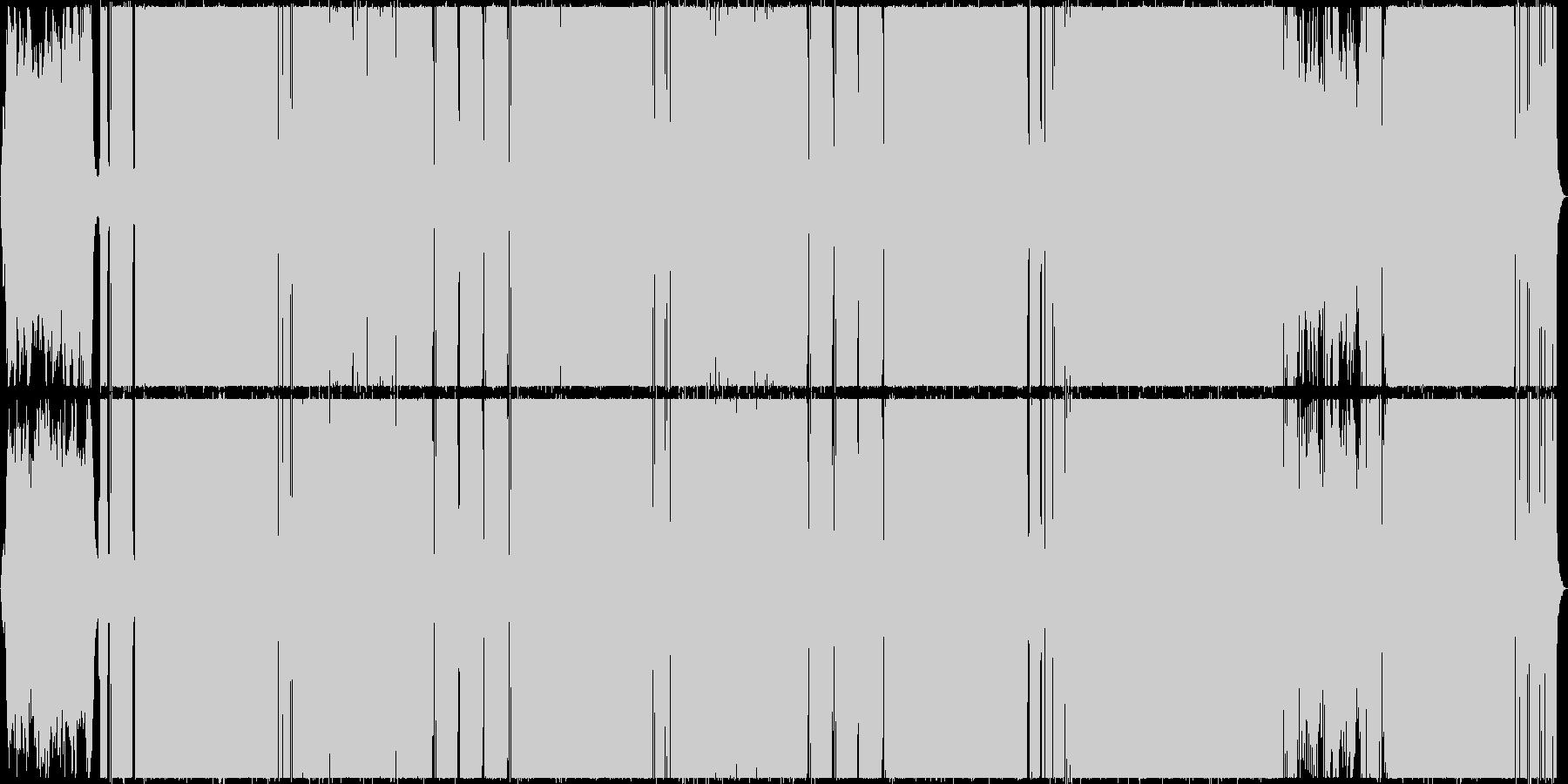 ゴージャスでファンタジックなポップスの未再生の波形