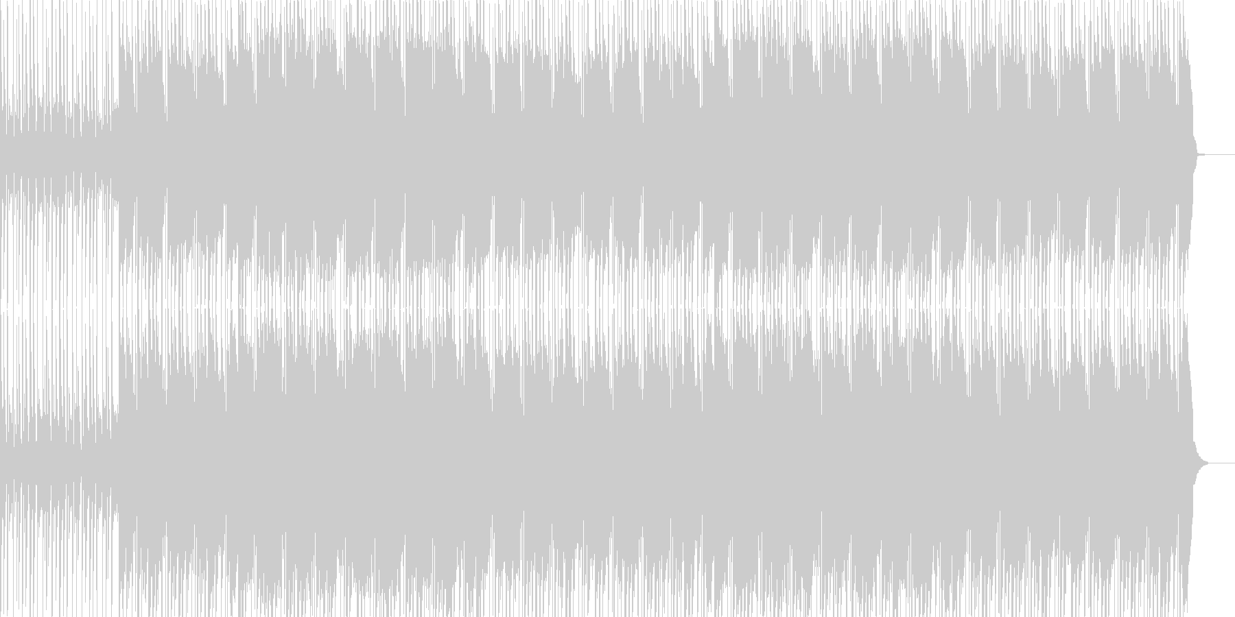おしゃれな和風ヒップホップ、CMや映像にの未再生の波形