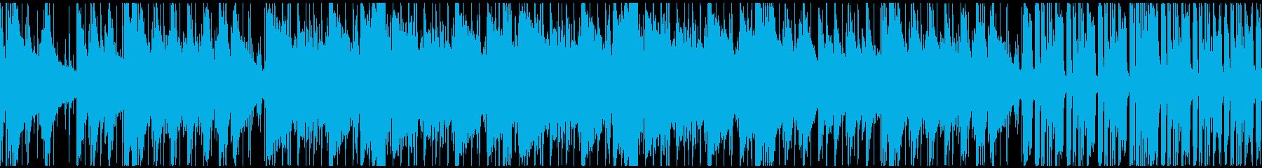ピアノとフルートが主体の爽やかなBGMの再生済みの波形