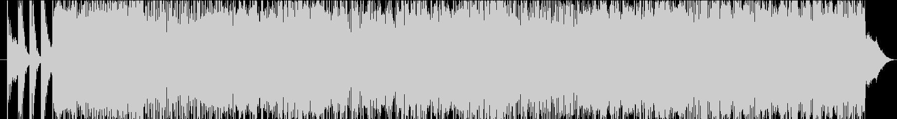 レトロ感のあるエレクトロポップの未再生の波形