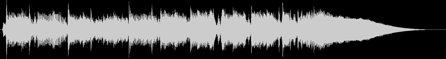 ジングル 軽やかなピアノの未再生の波形