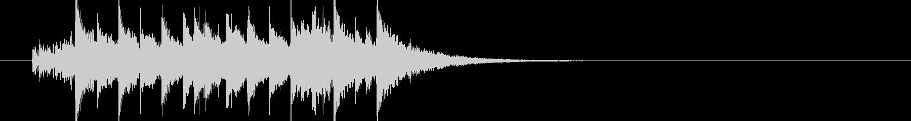 キラキラポップなマーチ風ジングル(S)の未再生の波形