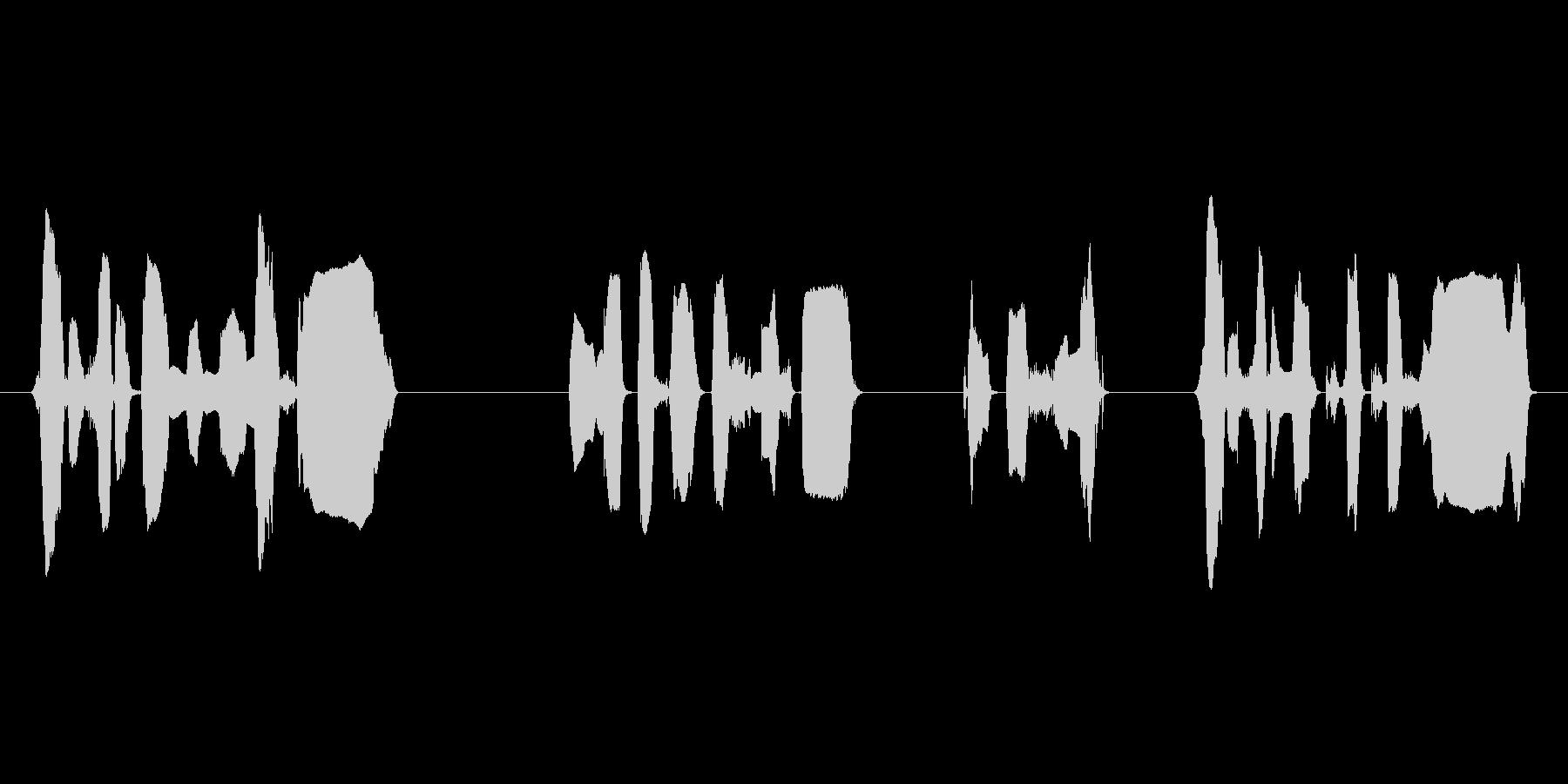 ハロハロ風の店内告知アナウンスですの未再生の波形