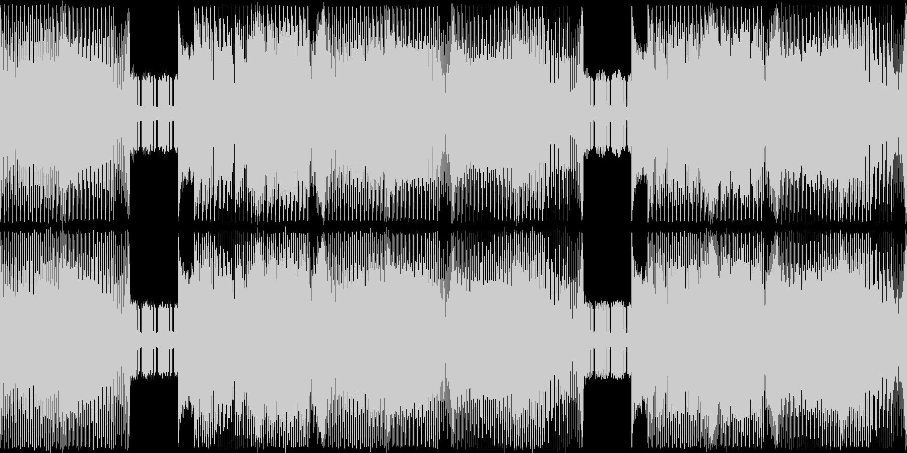 ジュリアナ系ハイパーテクノレイブ重厚の未再生の波形