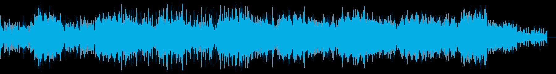 焦燥感のあるシネマティックBGMの再生済みの波形