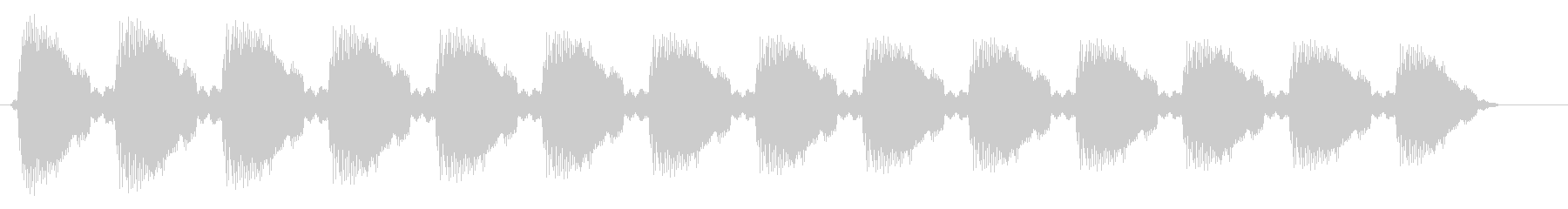 キレのある音が連続する効果音の未再生の波形