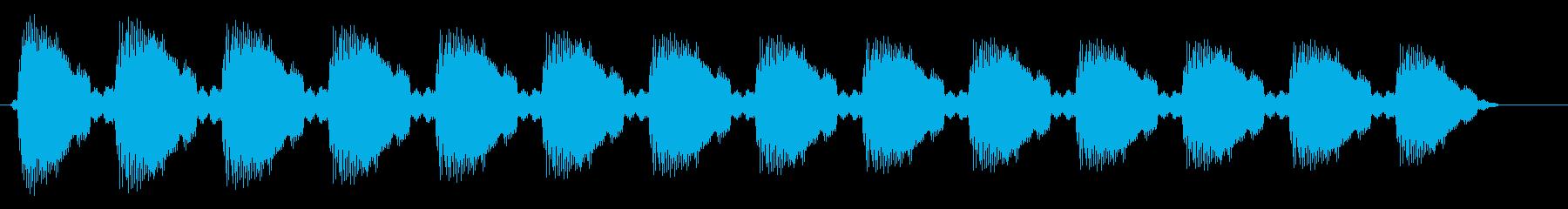 キレのある音が連続する効果音の再生済みの波形
