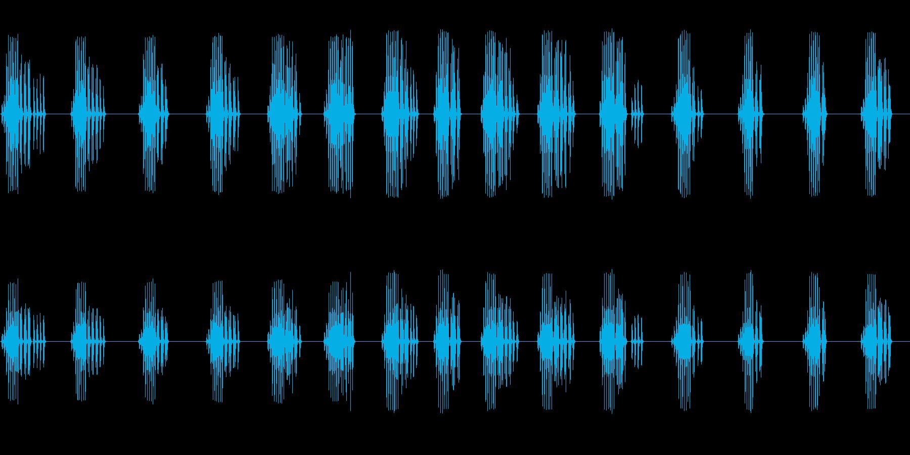 エンマコオロギの鳴き声の再生済みの波形