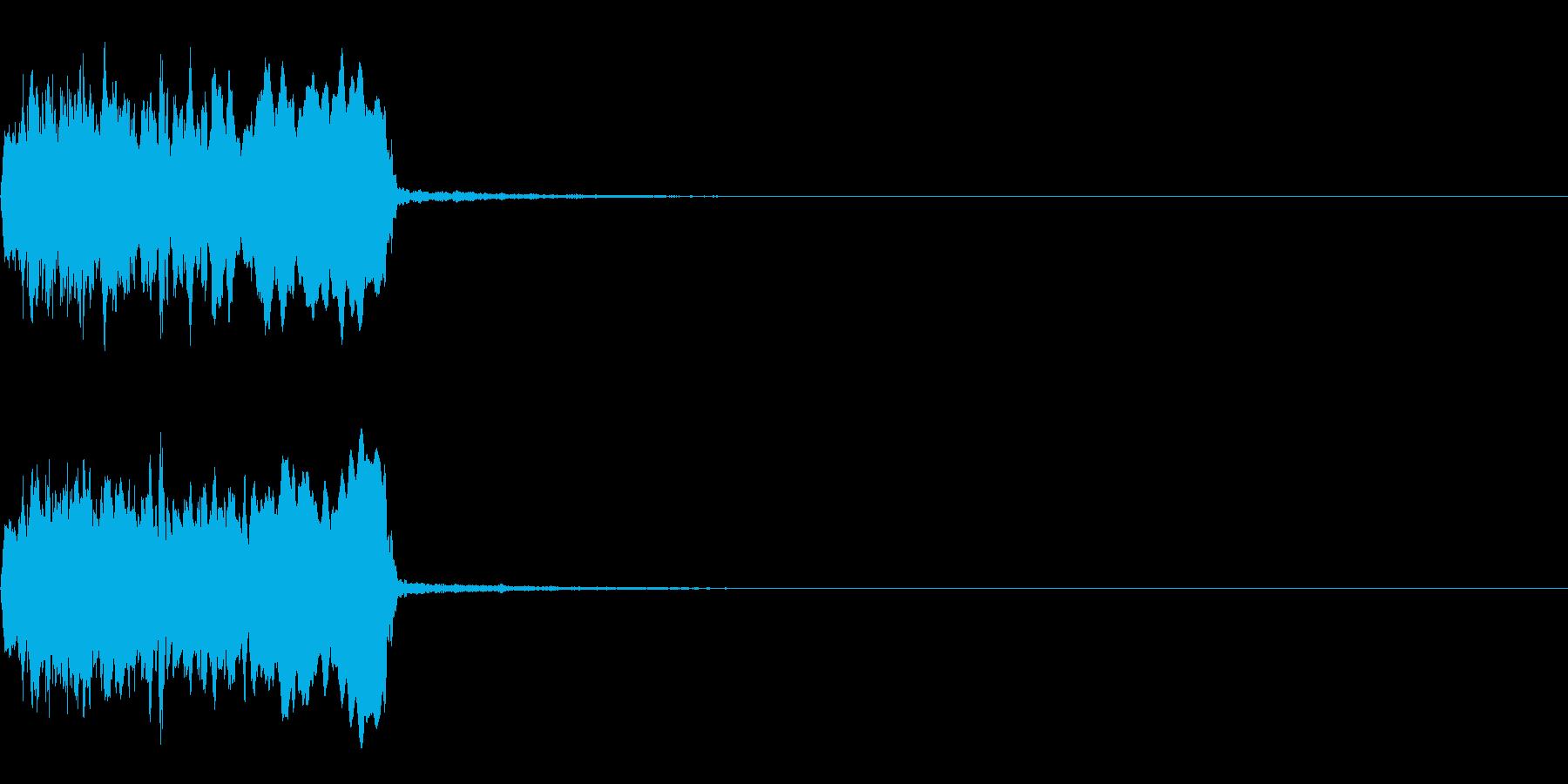 プーン・サイレン・ブザー・キュイーン5の再生済みの波形