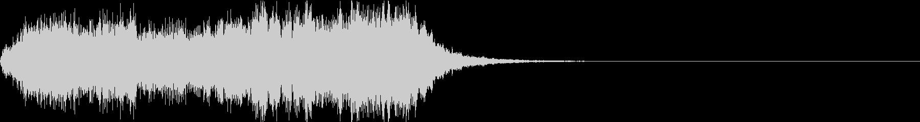 ストリングスによるダークなジングルの未再生の波形