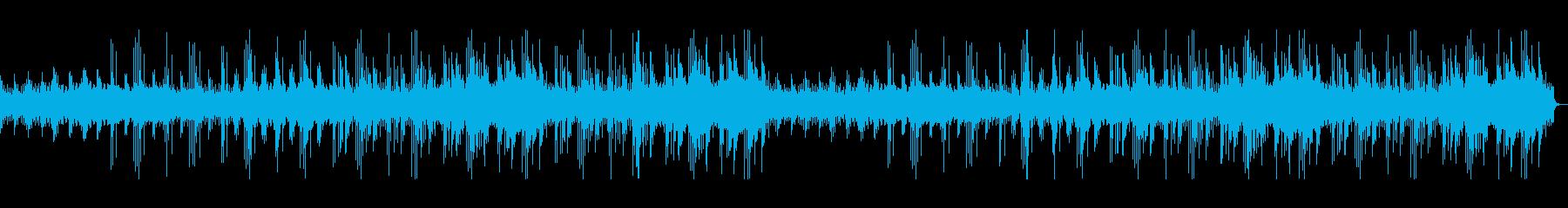 マリンバで始まるほのぼのした雰囲気の曲の再生済みの波形