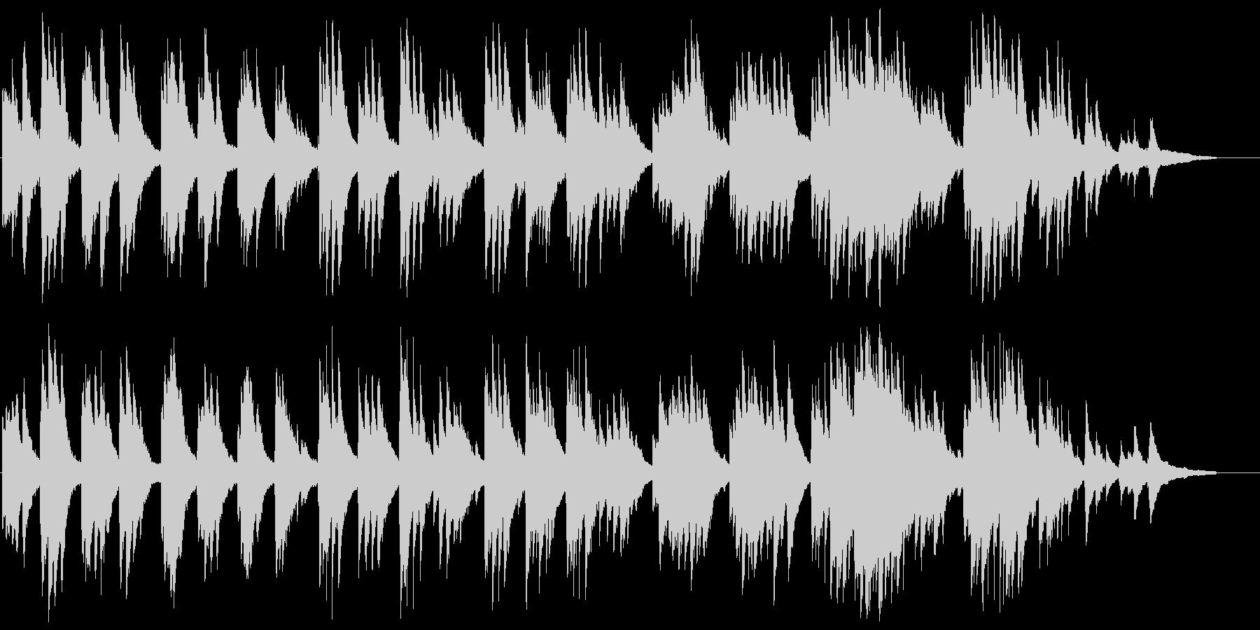 のどかでゆったり流れるピアノソロの未再生の波形