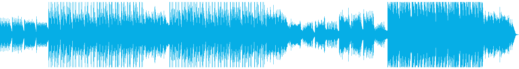 エレクトリックでかわいいメロのBGMの再生済みの波形