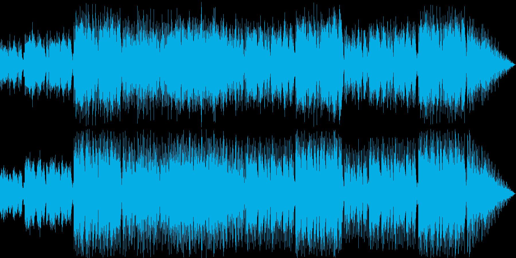 儚い雰囲気をもった民族音楽的な曲の再生済みの波形