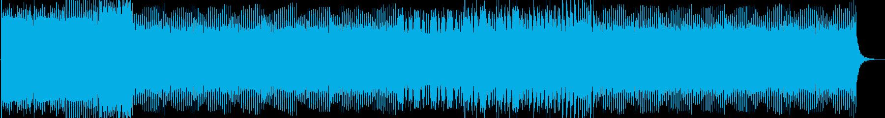 おしゃれでノレる4つ打ちEDMの再生済みの波形