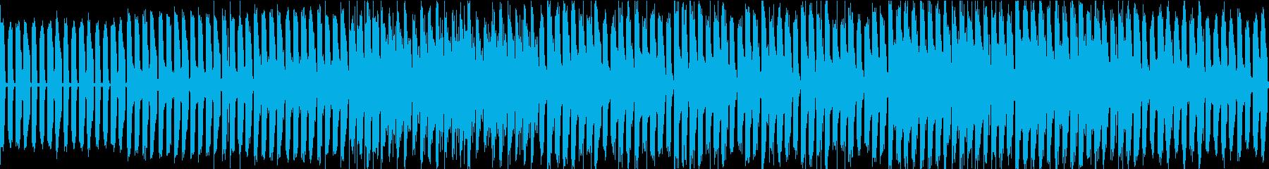 edm風のバトルbgmの再生済みの波形