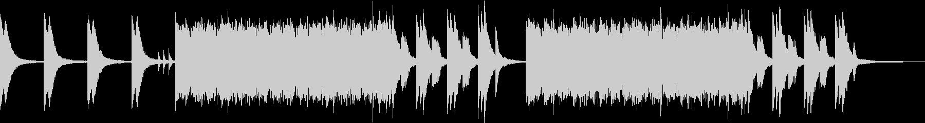 川をイメージしたピアノソロの未再生の波形
