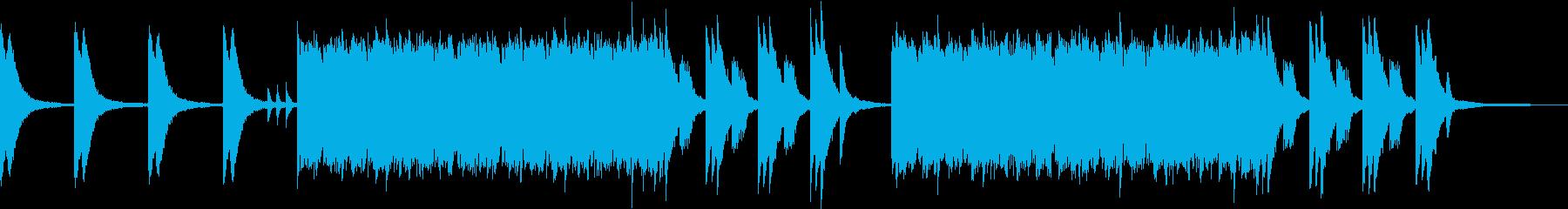 川をイメージしたピアノソロの再生済みの波形