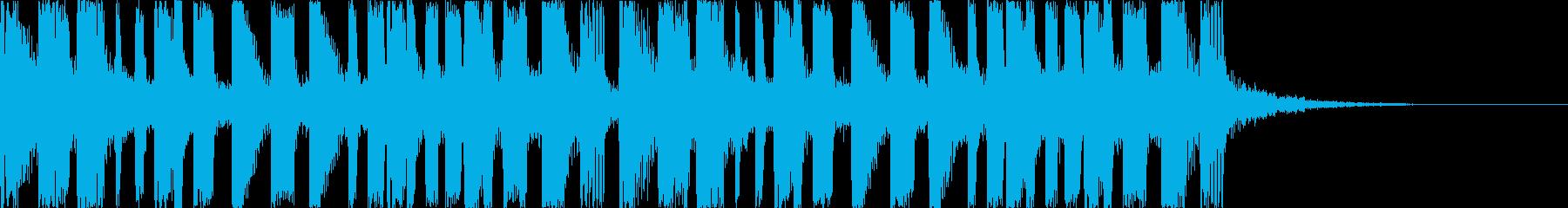 キャッチーで印象的なEDMの再生済みの波形