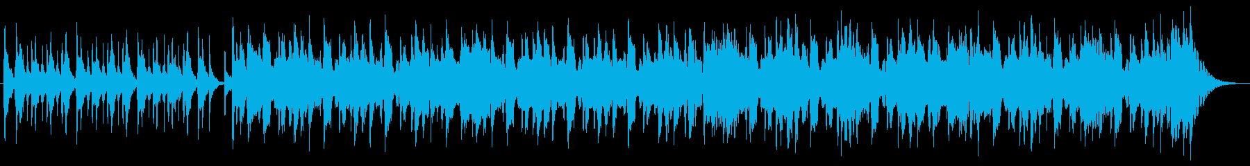 ハーモニカの明るいオープニング曲の再生済みの波形