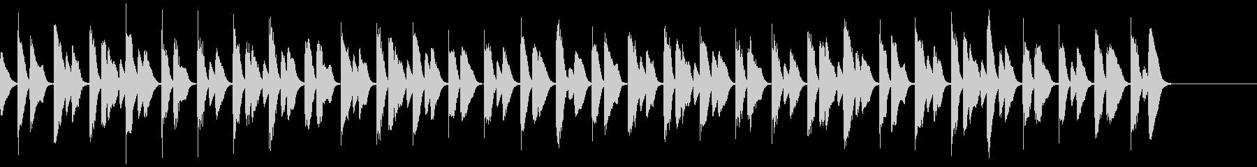 軽やかな30秒ピアノCMの未再生の波形