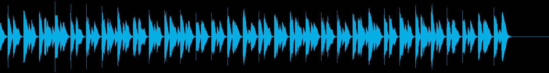 軽やかな30秒ピアノCMの再生済みの波形