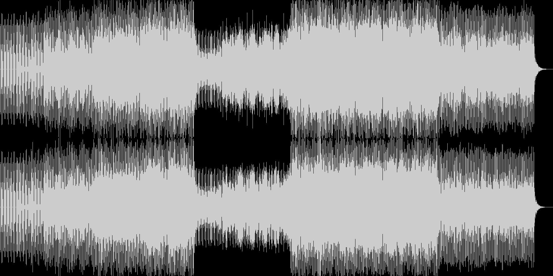 明るくハウスミュージックダンス系の未再生の波形