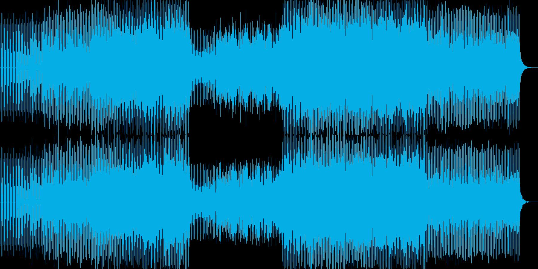 明るくハウスミュージックダンス系の再生済みの波形