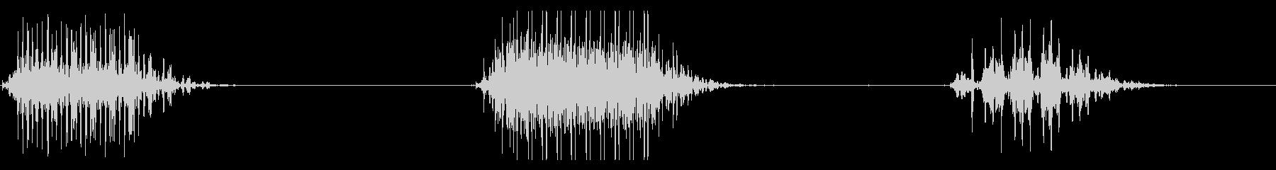 ちゃんちゃん(オチ)ver2の未再生の波形
