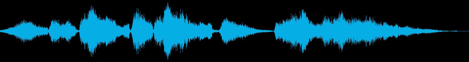 モンスターの呼吸と喘鳴モノの再生済みの波形
