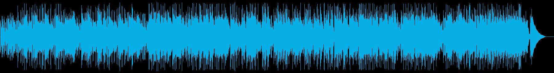 アコースティックのギターデュオの再生済みの波形