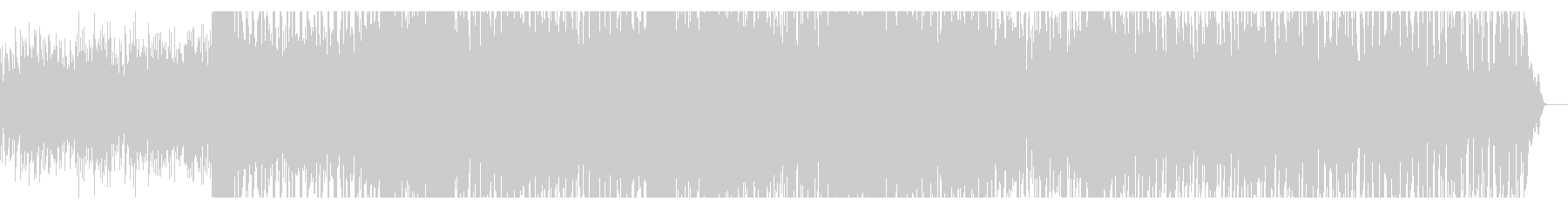 デジタルな商品説明向けテクノBGMの未再生の波形