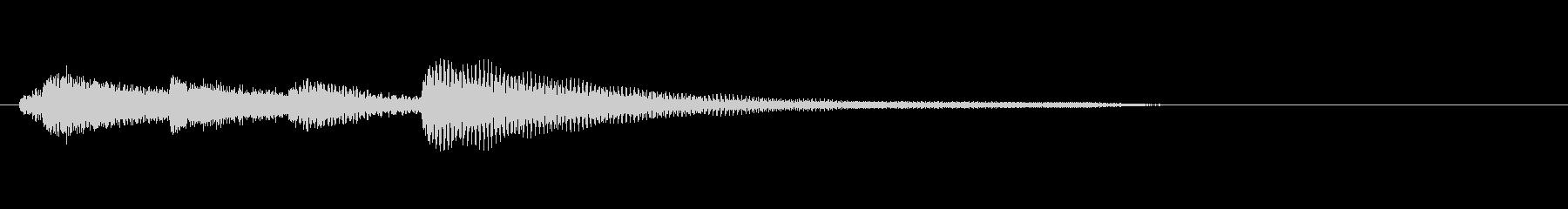 悲しげなピアノのジングルの未再生の波形