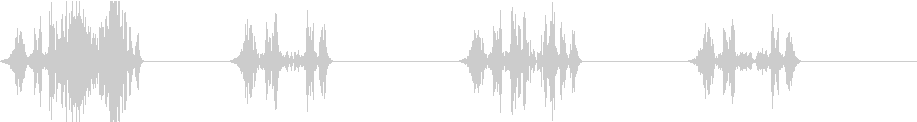 DJプレイ スクラッチ・ノイズ 112の未再生の波形
