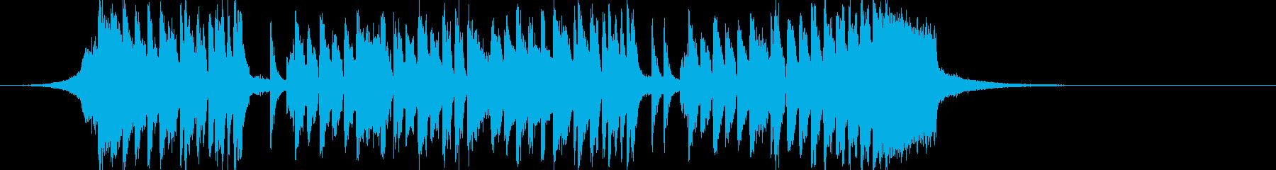 コミカルでワクワクなカワイイアイキャッチの再生済みの波形