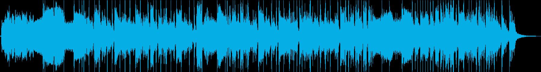 ベーススラップの際立つ疾走感あるジングルの再生済みの波形