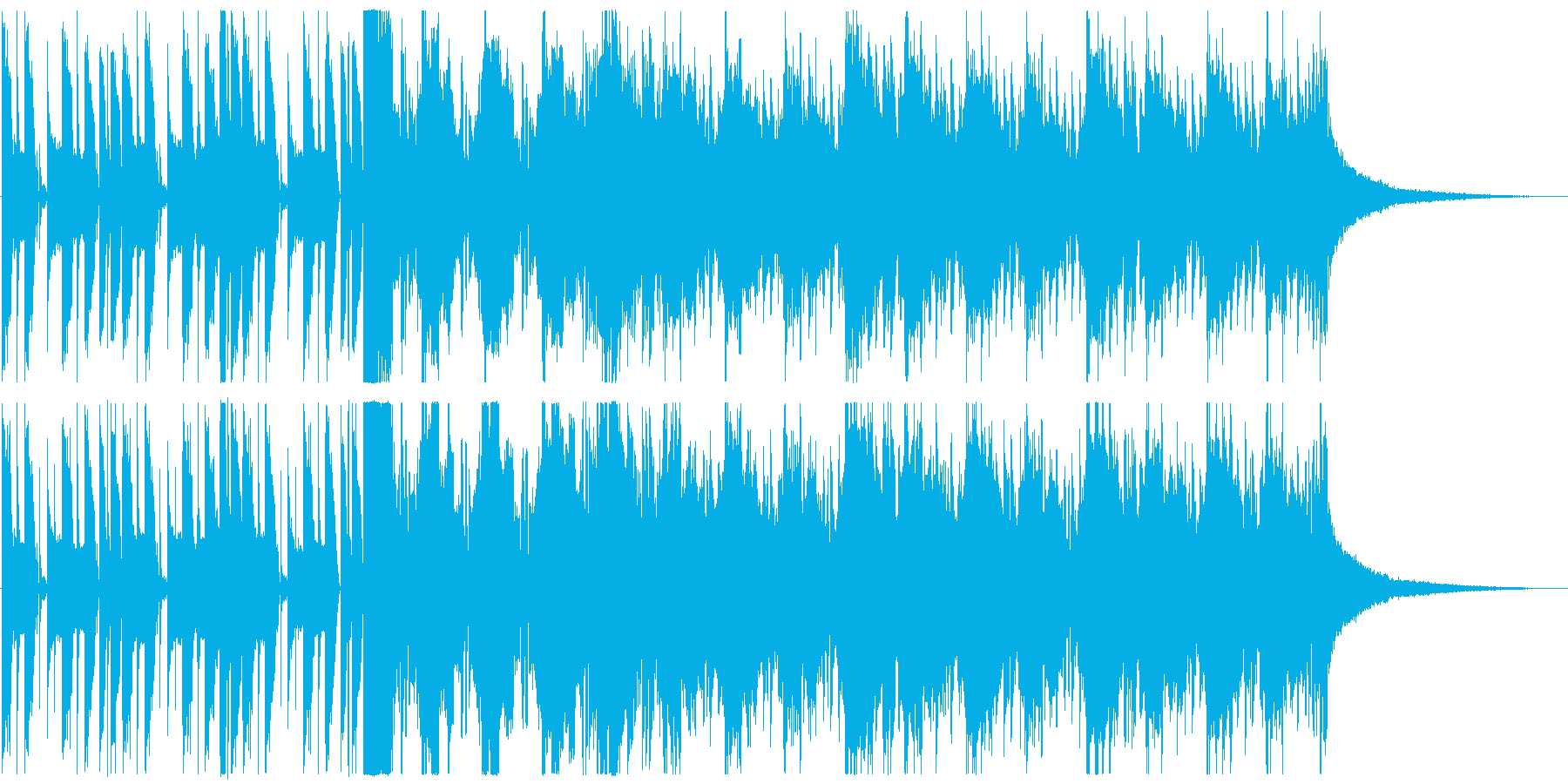ライザップ風ボイスパーカッションの楽曲の再生済みの波形