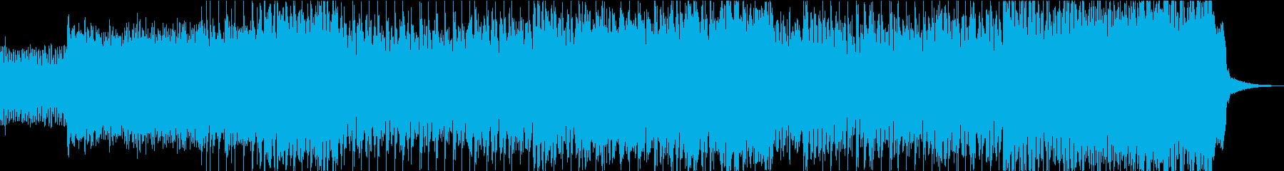 古典的で厳粛な雰囲気の曲の再生済みの波形