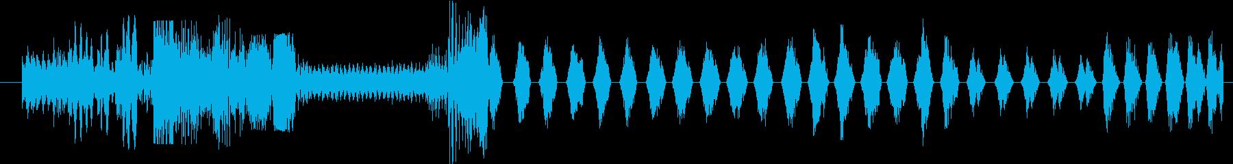 イメージ クレイジートーク08の再生済みの波形