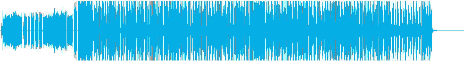 8bitチップチューン近代的テクノハウスの再生済みの波形