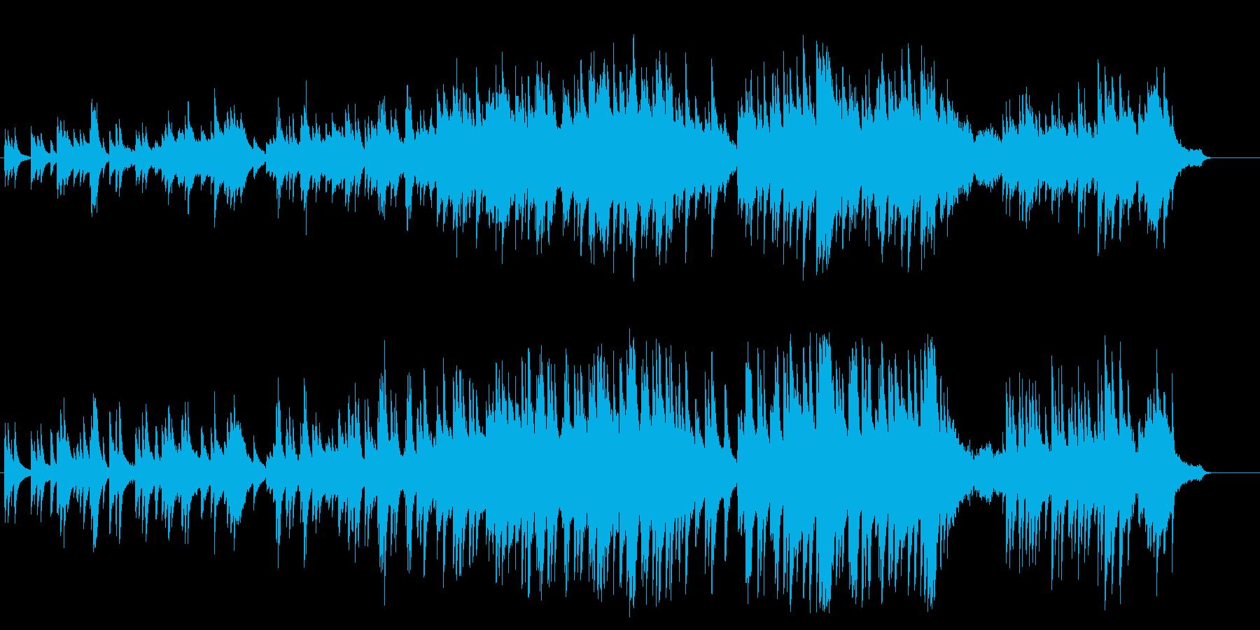 別れの切なさを描いた上品なピアノBGMの再生済みの波形
