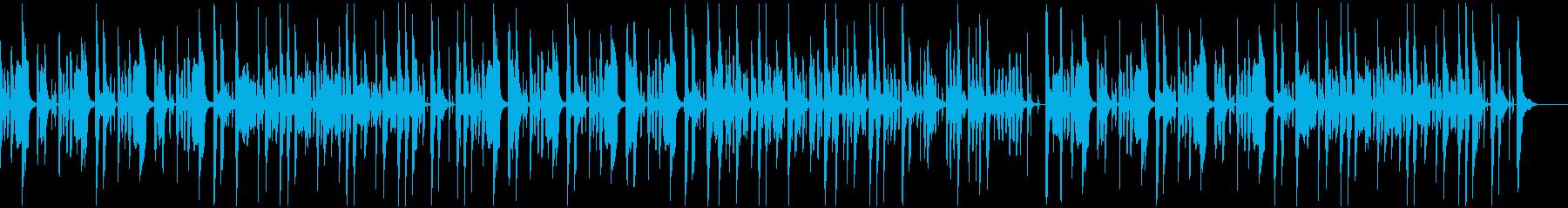 のんびり間抜けでかわいい日常曲の再生済みの波形