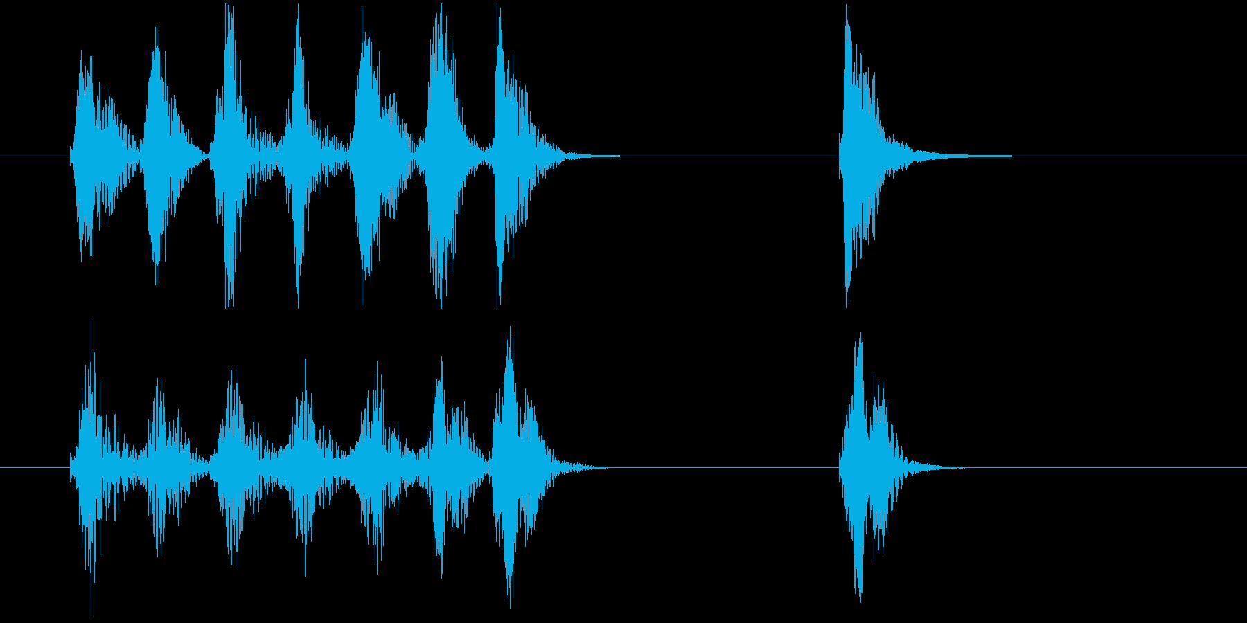 場面転換用ジングル サウンドロゴの再生済みの波形