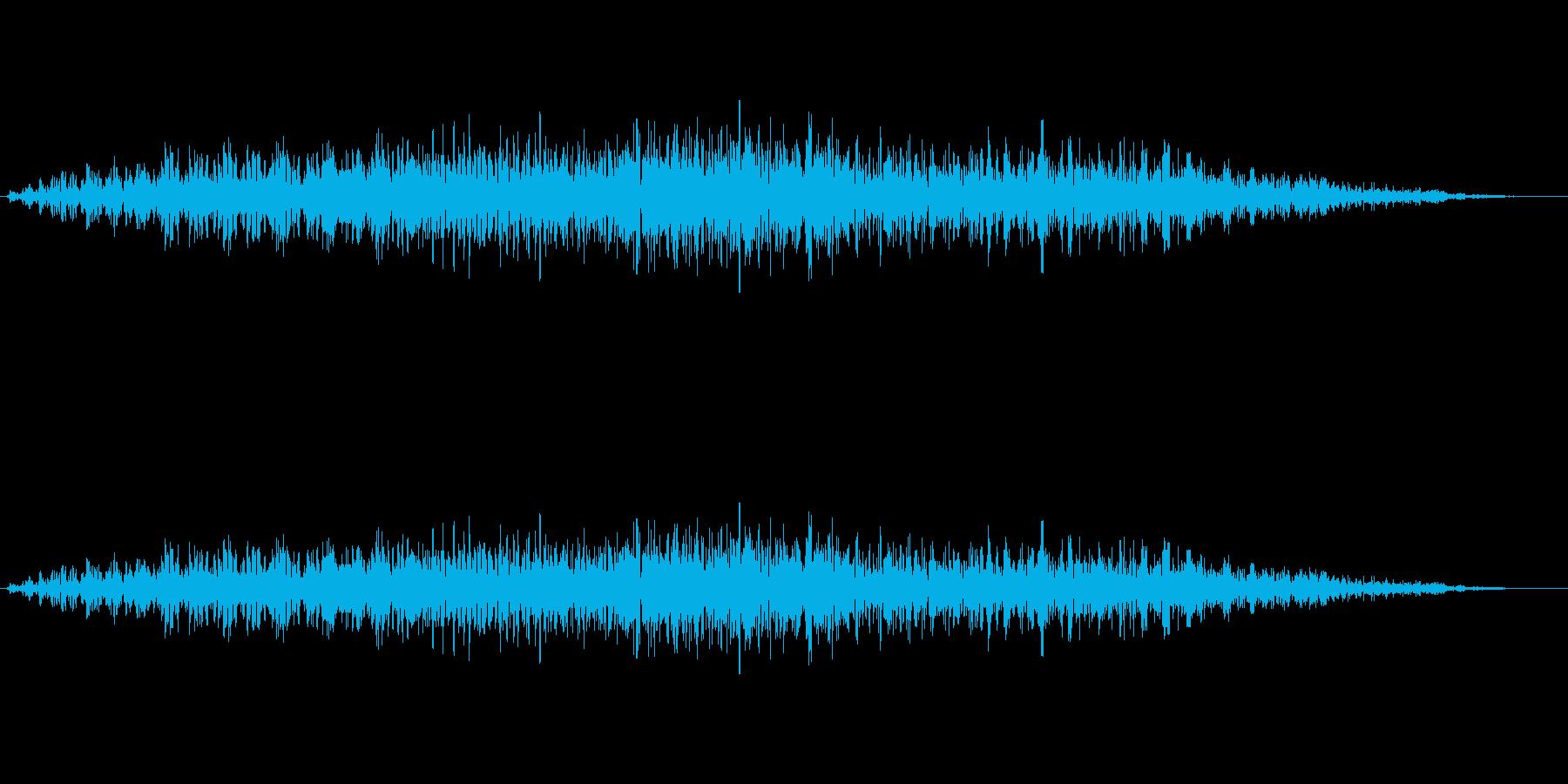 低い雄叫び雑多な人間の声の再生済みの波形